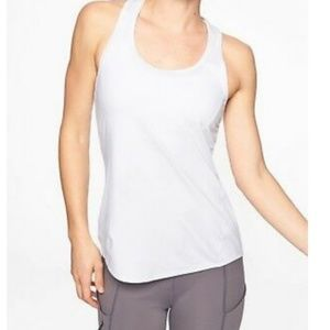 Athleta Chi White Racerback Tank Top